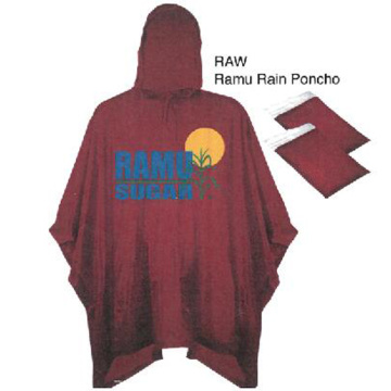 Promotional fashion custom cheap logo printed PVC rainponcho