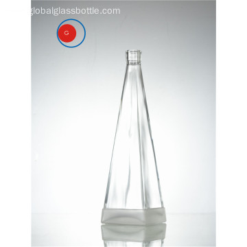 Transparent Glass Bottle of Pyramid Shape