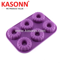 6 Cavity Medium Silicone Donut Donut Khuôn Pan