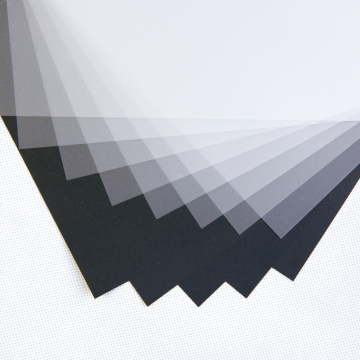 Black white Rigid PVC sheet