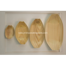 factory price disposable wooden boat tray