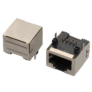 RJ45 JACK Side Entry1X1Port Shield Ultrathin Type