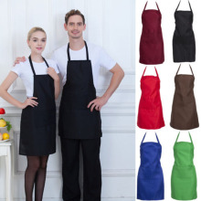 Brand New Style Men Women Cooking Kitchen Restaurant Solid Chef Adjustable Bib Apron Dress with Pocket work apron