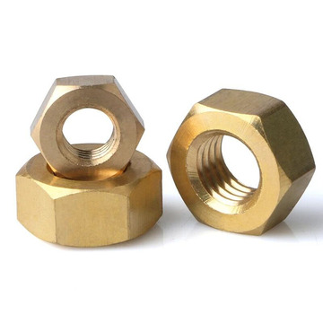 Brass hex nut and hex jam nuts