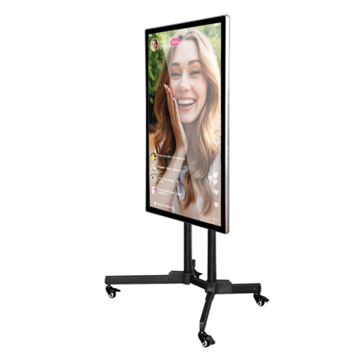 live streaming movable projection screen