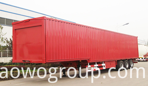 van cargo semi trailer