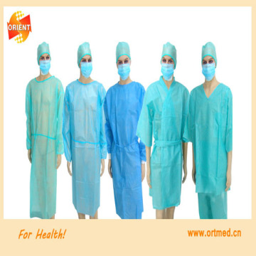 green blue Disposable sterile surgical Isolation gown