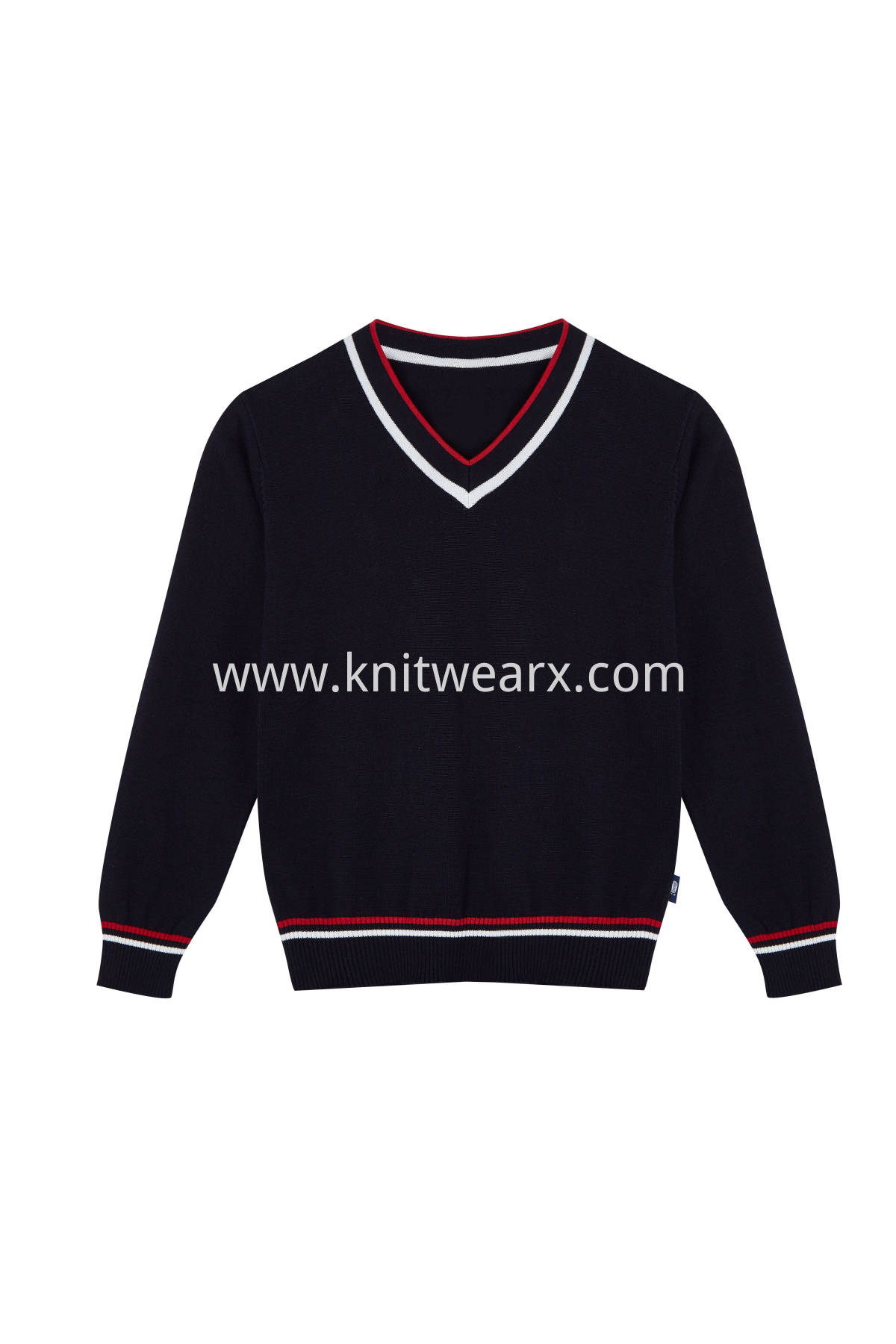 Kids's Sweater Vest Cotton V-Neck School Uniform Pullover Top