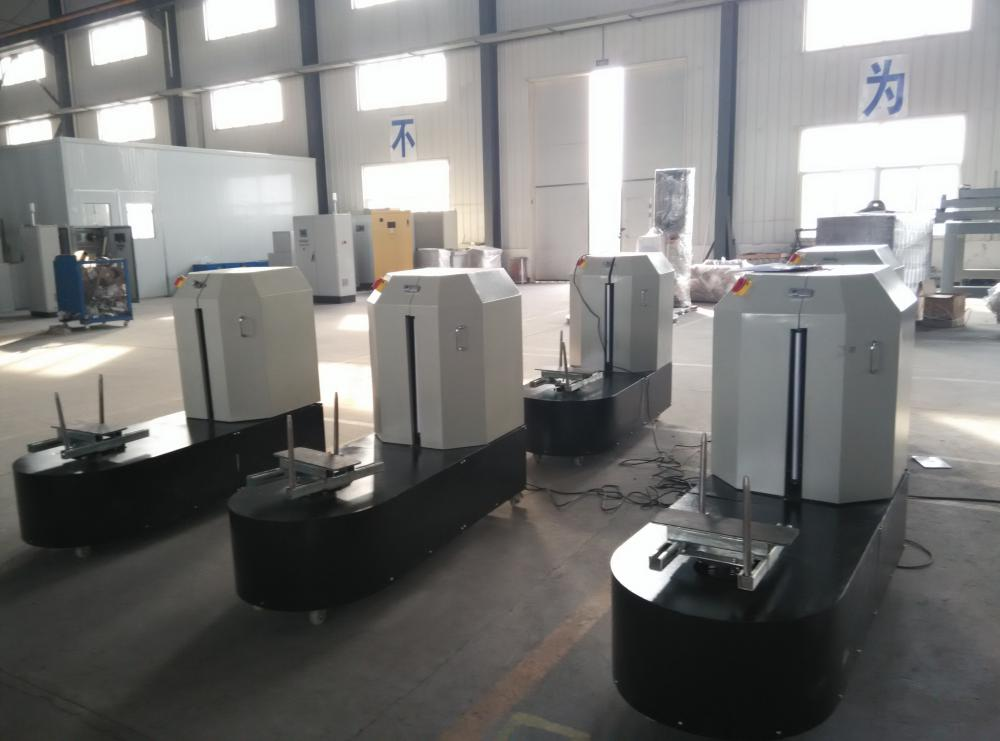 Semi-auto Stretch packing machine for Airport