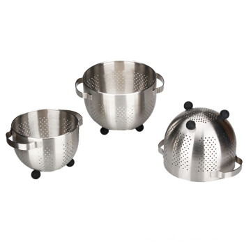 Stainless Steel Colander With The Silicone Leg
