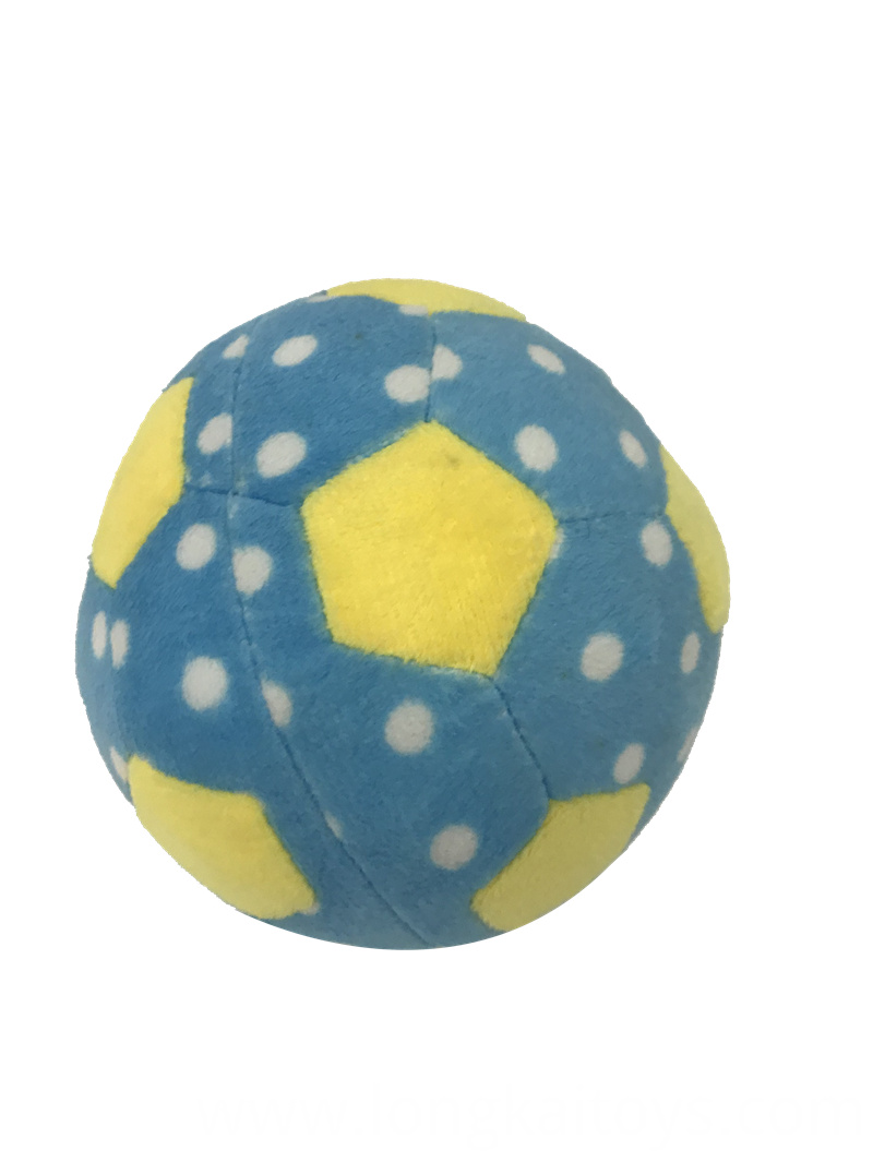 Blue Plush Ball Toy