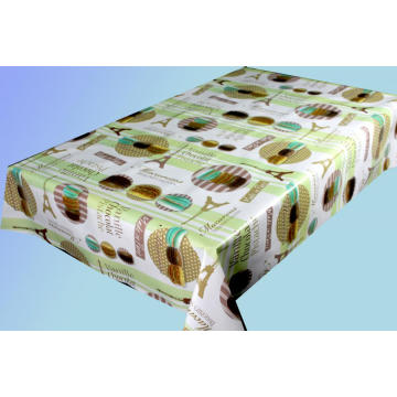 Elegant Tablecloth with Non woven backing Vinyl Pool