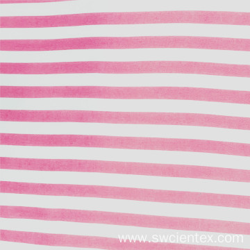 Breathable Pink Thick Striped Rayon Woven Fabric