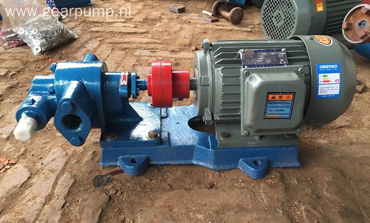 High viscosity oil transfer gear type palm oil pump