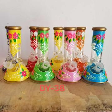 Colorful Handdrawn Glass Beaker Bongs