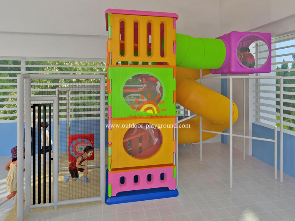 Children S Indoor Playground Tower With Tube For Sale