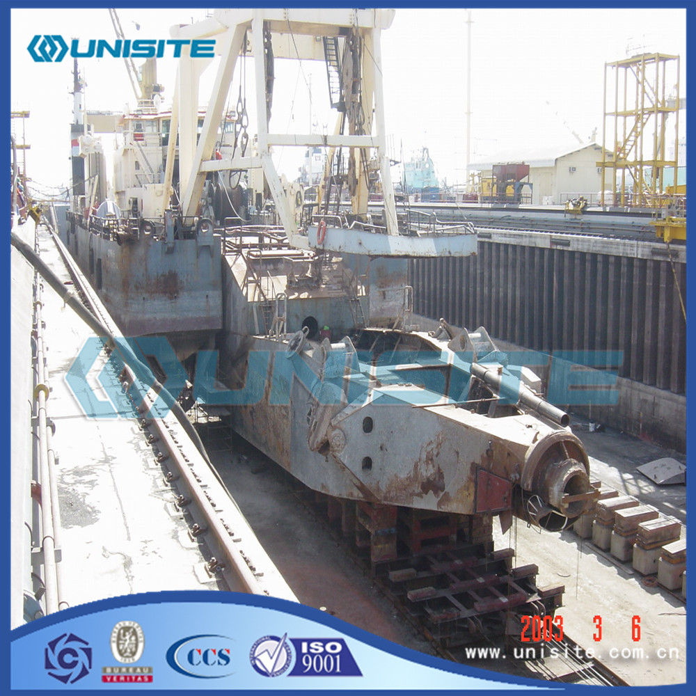 Steel cutter dredger ladder