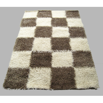 Polyester Thick & Thin Yarn Mix Carpet Rug
