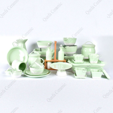 Wholesale Factory Price Custom double color plates sets dinner dinnerware sets ceramic