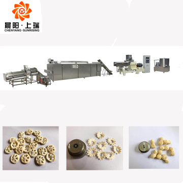 Cheese ball corn puffs snacks extruder machine