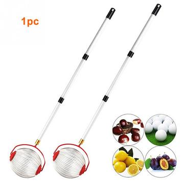 Universal Metal Garden Tool Pick Up Children Adults Harvester Nut Collector Easy Operate Pecan Picker Gatherer Rolling Extension