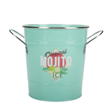 Home-Depot Metal Ice Bucket with Scoop