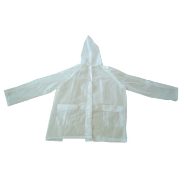 Waterproof white eva raincoat