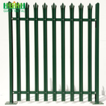 Easily Assembled W section Palisade Fence with Decoration