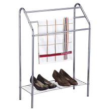 Towel rack with shoe holder