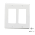 GFCI Rocker Outlet Covers  White With Screws