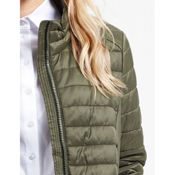 solid color quilted light weight down jacket
