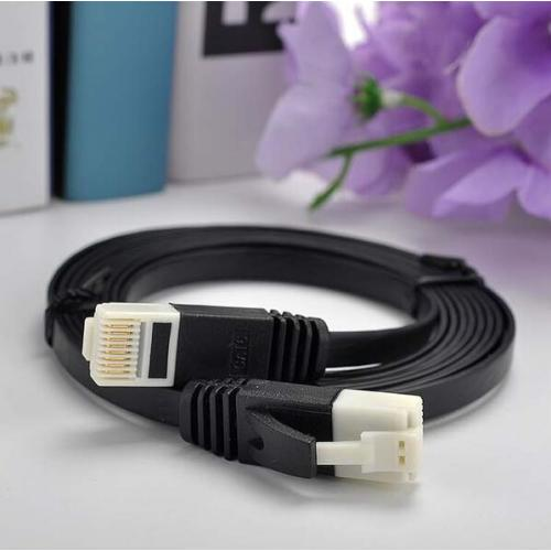 Nylon RJ45 Cat6 Flat Network Patch Cord Cable