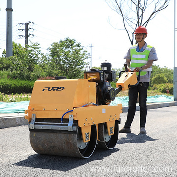 Mini double drum vibratory roller asphalt roller compaction rollers for sale FYLJ-S600C
