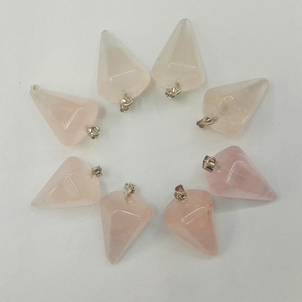 Wholesale Quart Rose natural Pendants Crystal Pendant for Jewelry making Pendulum accessories 12pcs/lot free shipping