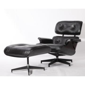 Eames Lounge Chair Replica All Black Edition