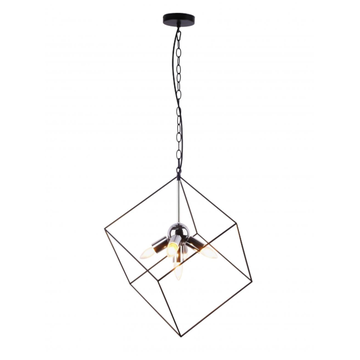 Chandelier with Cube iron frame