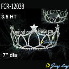 Rhinestone Star Shape Wholesale Full Round Pageant Crowns