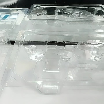 Custom promotional clear plastic disposable clamshell box