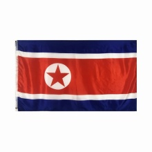 People's Republic of Korea national flag printed polyester