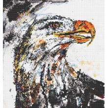 Animal Eagle Glass Mosaic Tile Oil Painting Mural