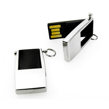 Unidades flash USB de metal con capacidad real giratoria