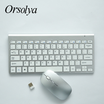 2.4G Wireless Keyboard and Mouse Mini Keyboard Mouse Combo Set For Laptop Desktop PC Office Supplies for Windows/Linux