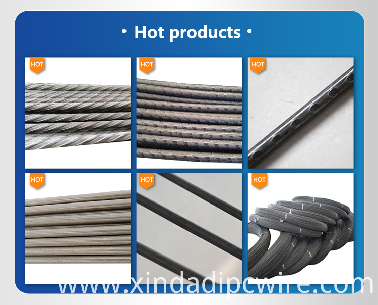 Prestressed wire surface