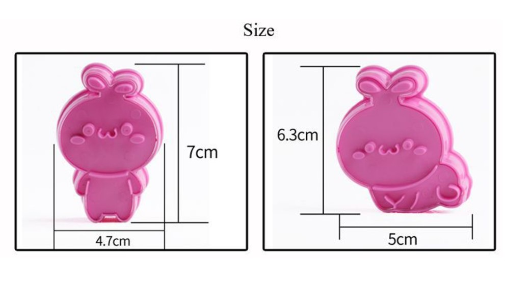 3D Cartoon Biscuit Cookie Mold (8)