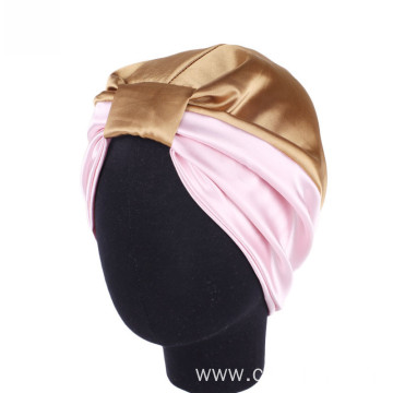 two color splicing cheap hijab headwrap turban bandanas