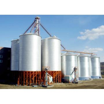 Grain storage steel silo