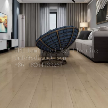 Flame-proof composite flooring for decoration