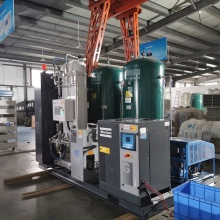 oxygen gas making machine with cylinder filling system