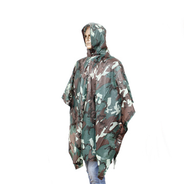 Hot Sales Outdoor PVC Military Rain Camouflage Poncho