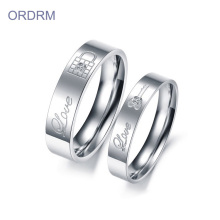 Custom Engraved Wedding Rings Set For Her Him